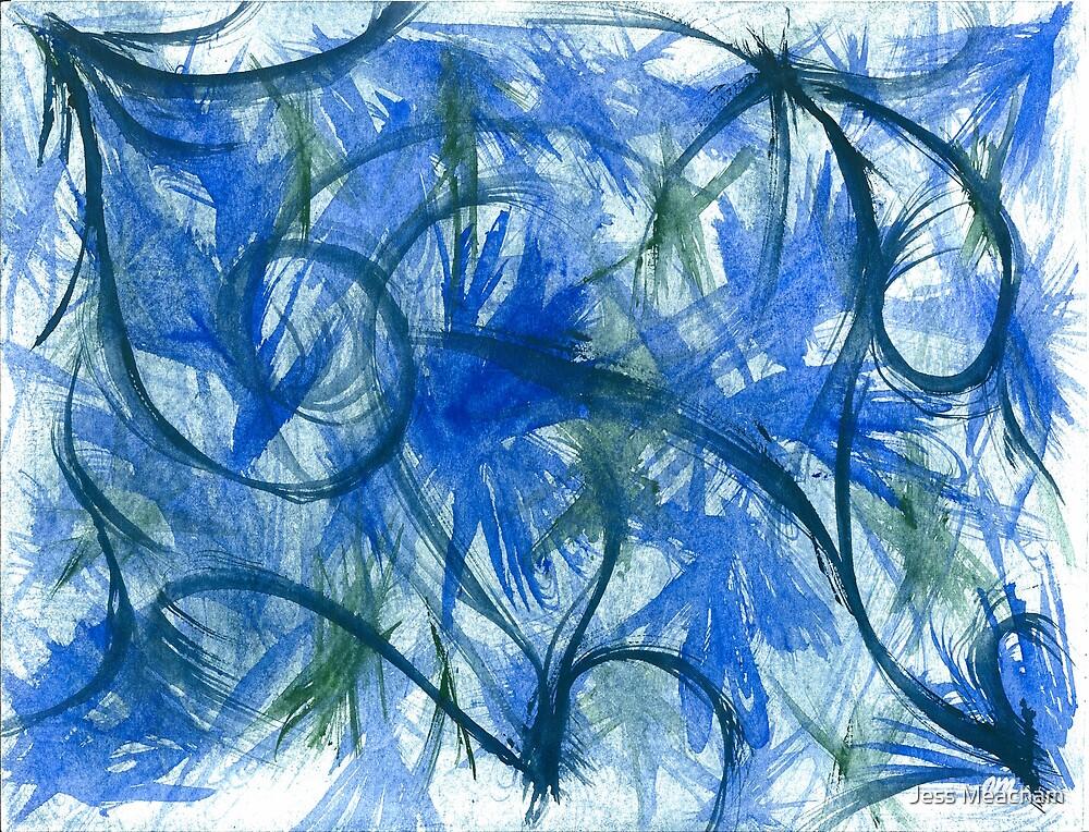 Blue Spark Watercolor by Jess Meacham