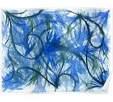 Blue Spark Watercolor Poster