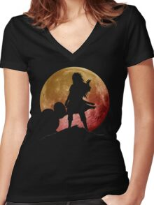 Dark Madara Women's Fitted V-Neck T-Shirt