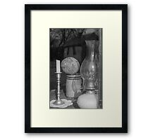 Candle and Lantern Framed Print