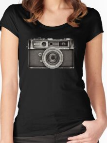 YASHICA_B&W Women's Fitted Scoop T-Shirt