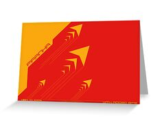 Wipeout Piranha Advancements Poster Greeting Card