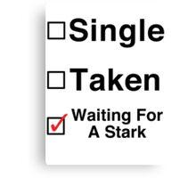 Waiting for a Stark Canvas Print