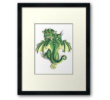 D is for Dragon! Framed Print