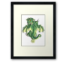 D is for Dragon! Framed Print