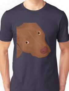Cute Red Nose Pitbull Portrait - Vector Art Unisex T-Shirt