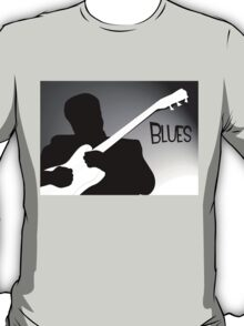 Silhouette of a Blues Player Playing Guitar T-Shirt