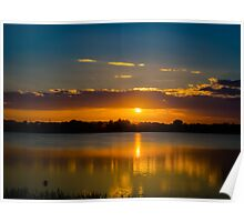 Sunrise over the Murray River Poster