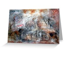 Contemporary Cave Painting Greeting Card