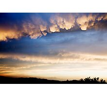 Cumulonimbus with Mammatus clouds Photographic Print