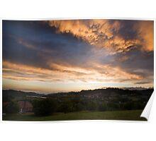 Cumulonimbus Sunset Poster