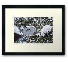 lamp post Framed Print
