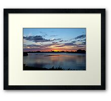 Fighting the blues Framed Print