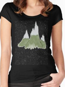 Grassy Mountains Women's Fitted Scoop T-Shirt