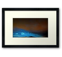 ©HCS Red And Blue Clouds Framed Print