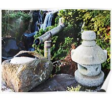 Japanese Fountain Poster