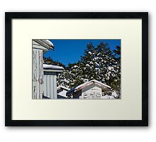 four sheds Framed Print
