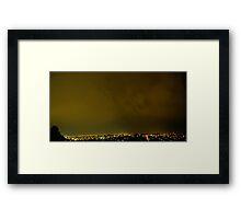 ©HCS Orange Clouds Down Framed Print