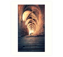 Columns in Bourges Cathedral Art Print