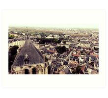 Top of Bourges Cathedral Tower Art Print