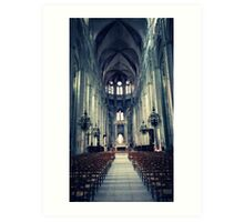 Bourges Cathedral Art Print