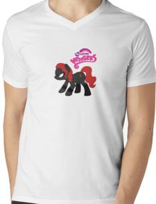 My Little Venger: Black Widow Mens V-Neck T-Shirt