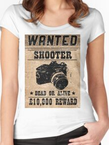 Shooter Wanted Women's Fitted Scoop T-Shirt