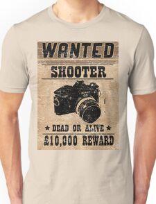 Shooter Wanted Unisex T-Shirt