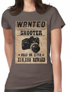 Shooter Wanted Womens Fitted T-Shirt