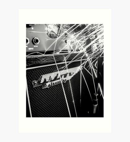 Flint and steel amplifier photography Art Print