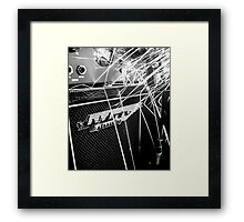 Flint and steel amplifier photography Framed Print