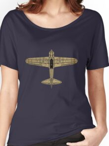 Mitsubishi A6M Zero (Vintage/Worn Look) Women's Relaxed Fit T-Shirt