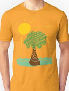 Island Breeze Sun and Palm Tree Ocean T-Shirt