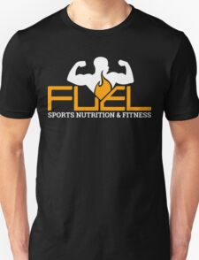 FUEL Logo - Orange & White T-Shirt