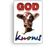 GOD KNOWS Canvas Print
