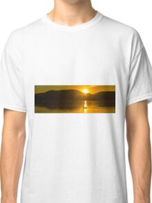 Pelicans swimming at sunset Classic T-Shirt