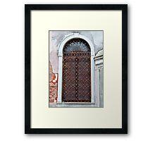 Wrought Iron Door Framed Print