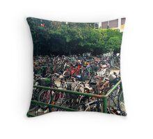Bike Multitude Throw Pillow