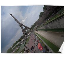 Sideview of Eiffle Tower Poster