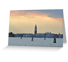 Dusk at St. Mark's Square Greeting Card