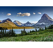 Two Medicine Lake, Glacier National Park Photographic Print
