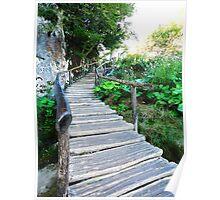 wooden stairway Poster