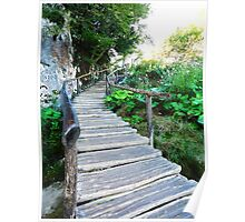 wooden stairway Poster