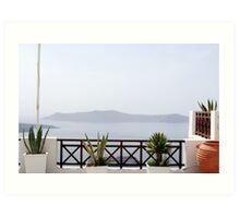 Mediterranean Terrace Art Print