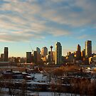Calgary Cityscape Sunset by ionclad