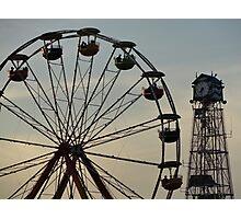 Ferris Wheel & Cuckoo Photographic Print