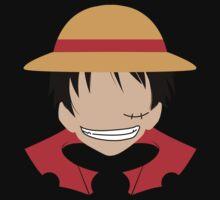 Luffy One Piece Minimalistic Art by Colestar