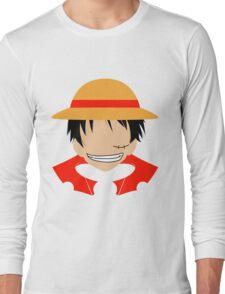 Luffy One Piece Minimalistic Art Long Sleeve T-Shirt