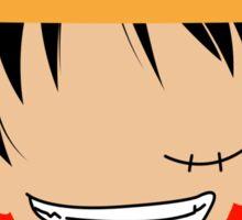 Luffy One Piece Minimalistic Art Sticker