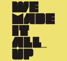 we made it all up (black) Kids Clothes